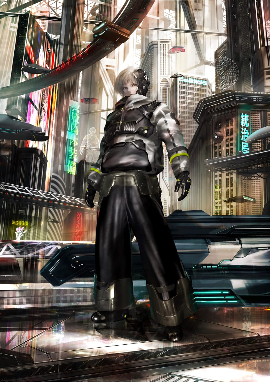 RULER Illust of Tiramochi November2020_Contest:Cyberpunk cyberpunk illustration Conceptart イラストレーション