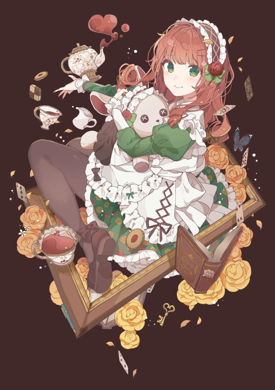 お茶会 Illust of こんぺ伊藤 October2020_Contest:Food girl