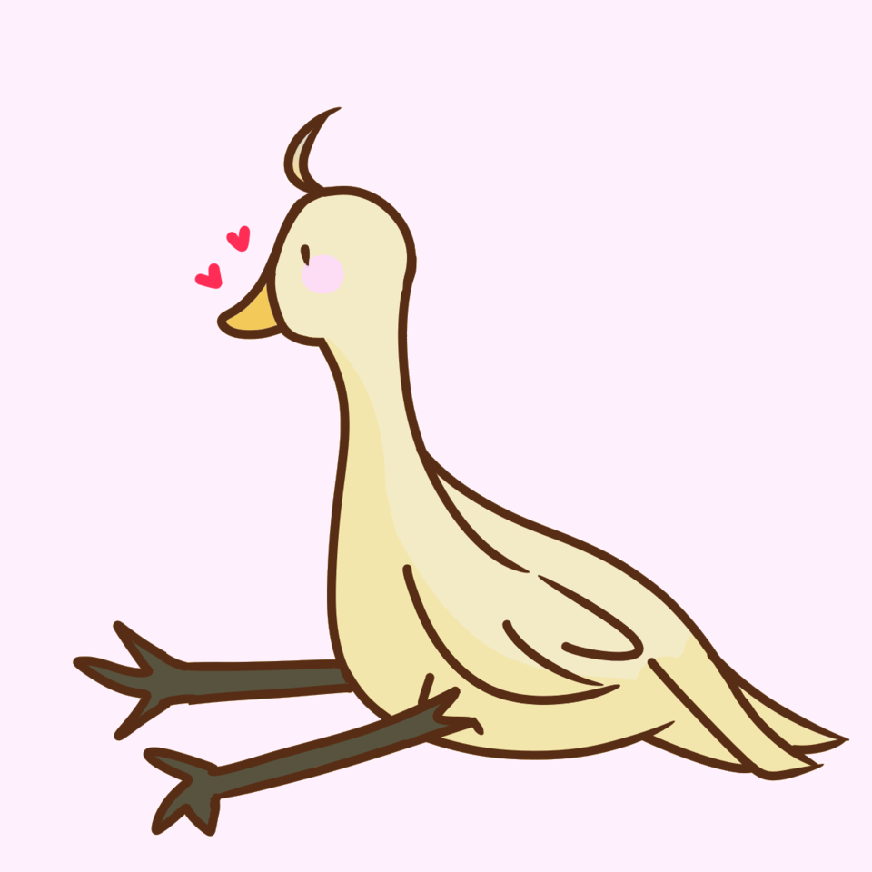 Duck I made during corona testing :) Illust of Paper Duck cute Simple