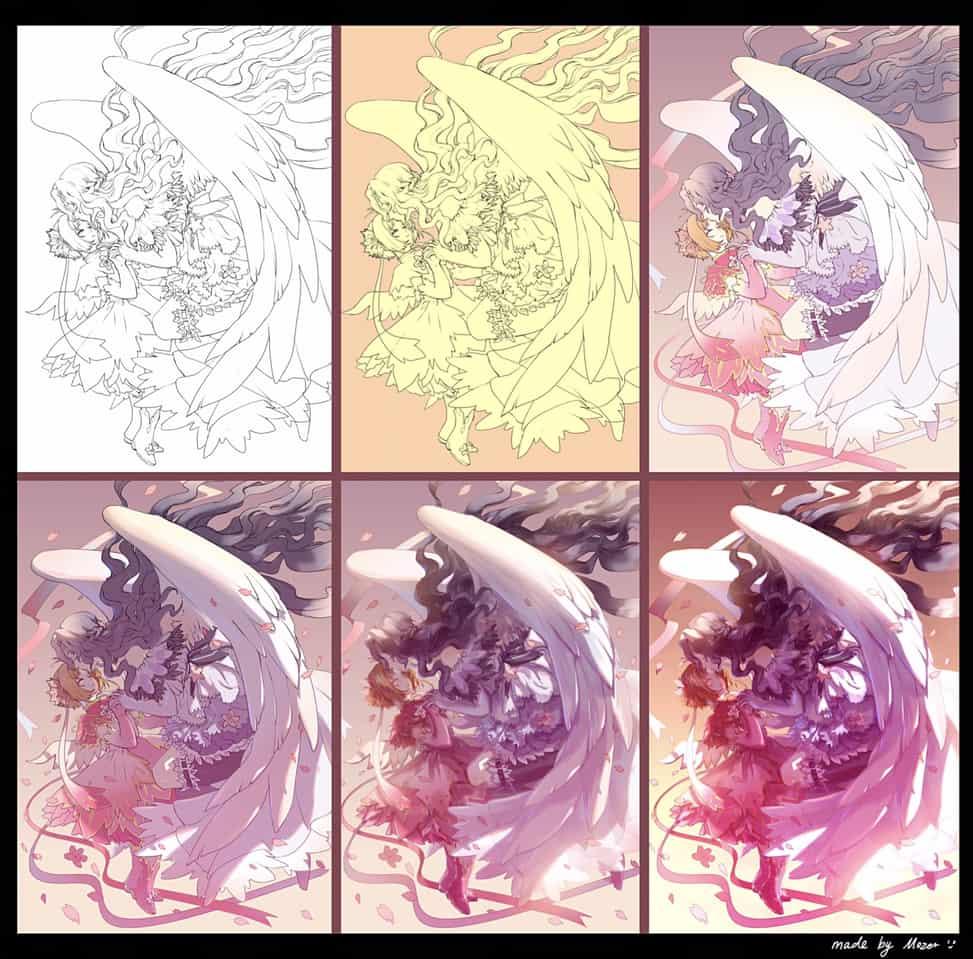制作过程 Illust of Mozer 木之本さくら メイキング CardcaptorSakura