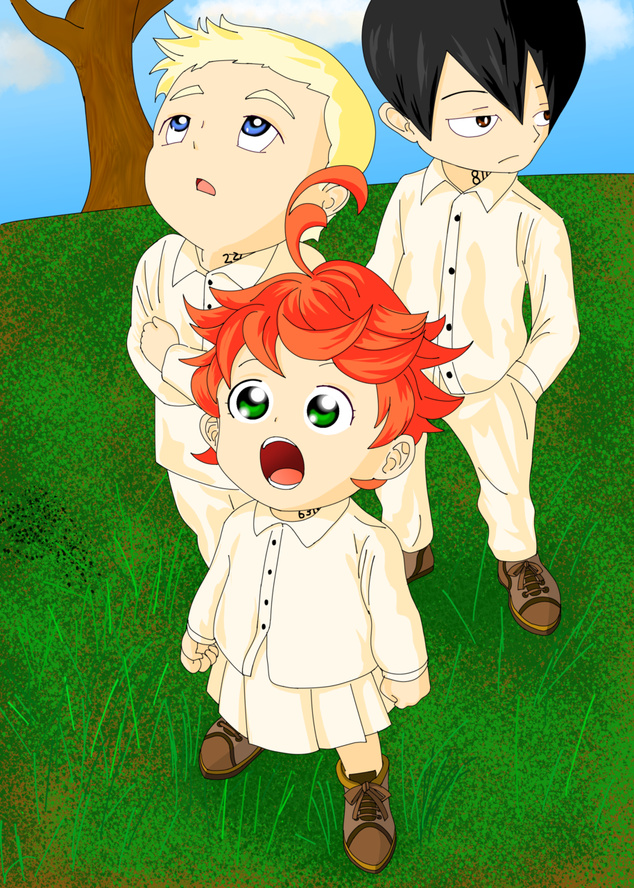 Emma, Norman and Ray (THE PROMISED NEVERLAND) - shivnarayan