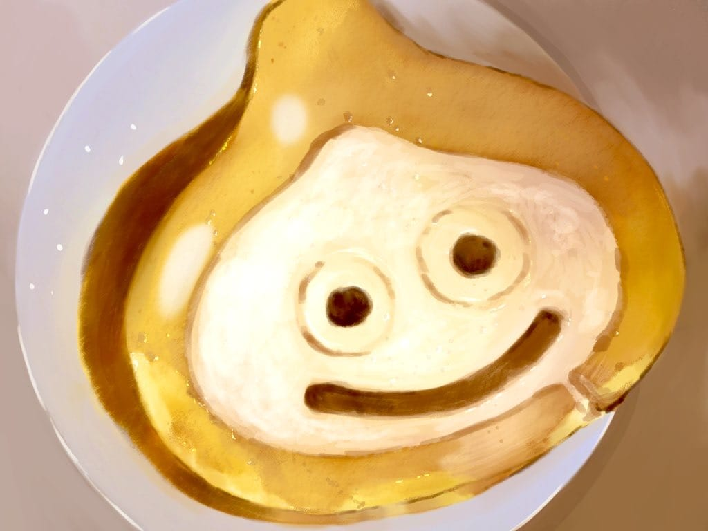 ロールケーキスライム Illust of まころん☆ March2021_Creature Emo kawaii illustration slime artist art イラスト好きな人と繋がりたい ロールケーキ Artwork