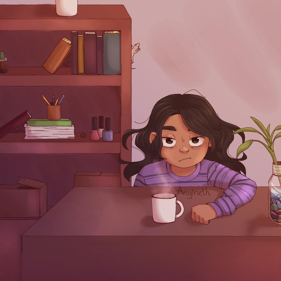 Coffe❣ Illust of Angineth medibangpaint book girl coffe cup