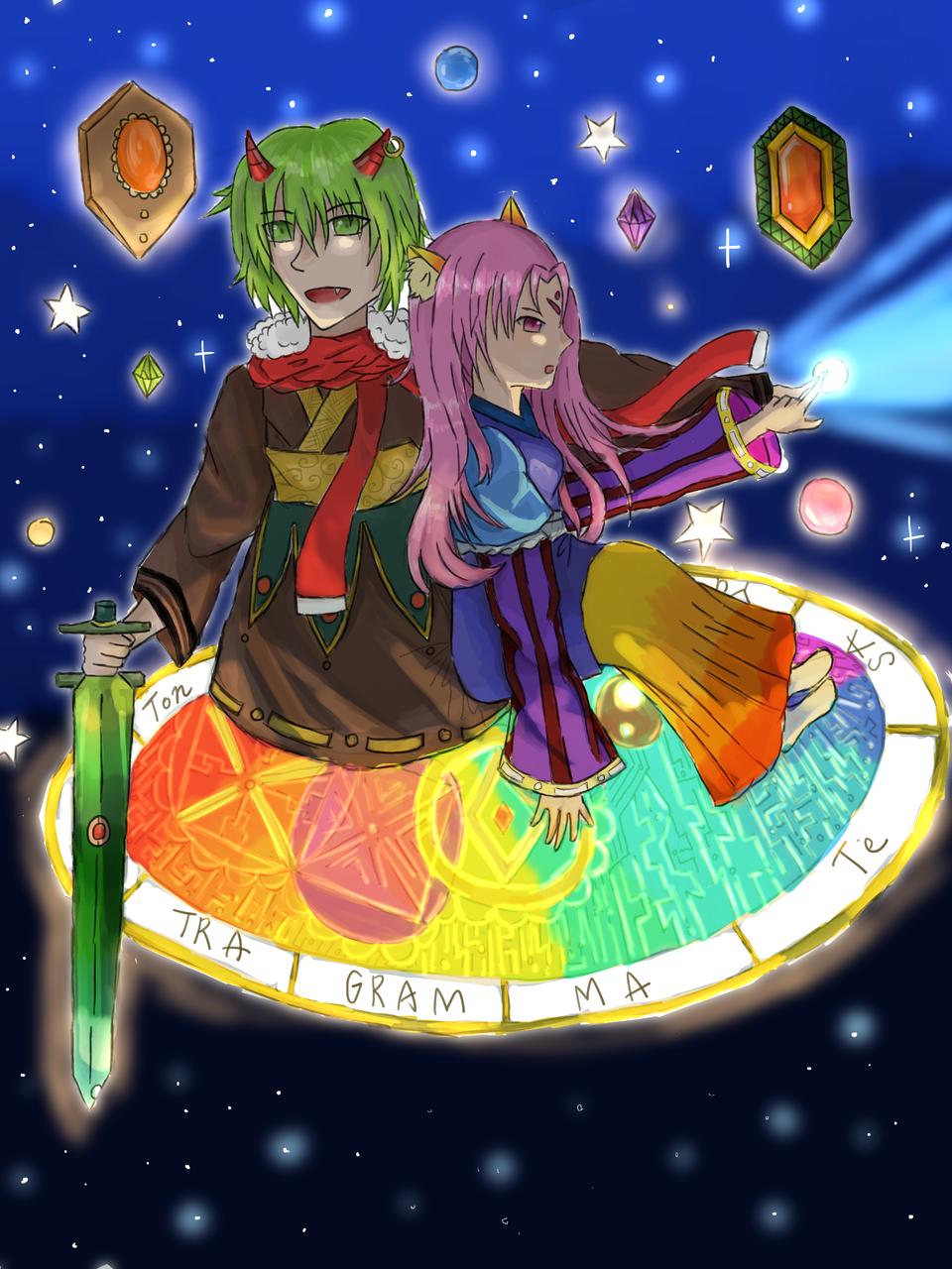最高の組み合わせ(電繪上色 Illust of 御鬼 January2021_Contest:OC