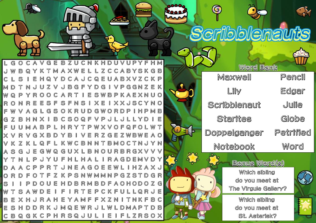 Scribblenauts (Word Search) - Trupokemon | Illustrations