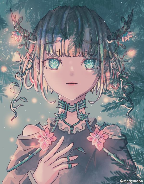 Anecdote Illust of Marfy カラフル きらきら girl flower yellow elf blue 植物 kawaii fairy
