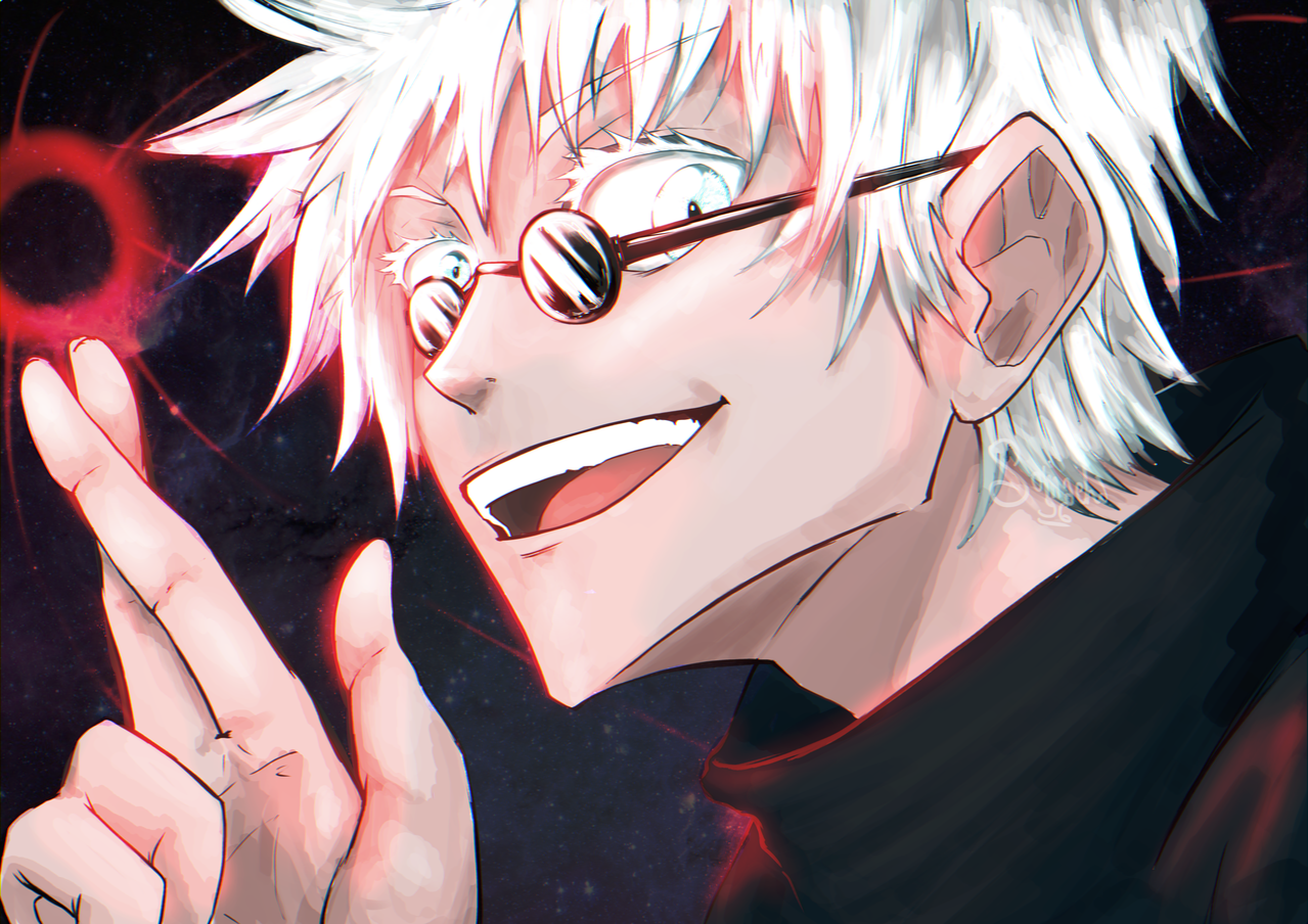 五条悟 ごじょうさとる Gojō Satoru glasses Illust of Somachi MF96 JujutsuKaisenFanartContest original JujutsuKaisen Sans manga SatoruGojō drawing anime power beast