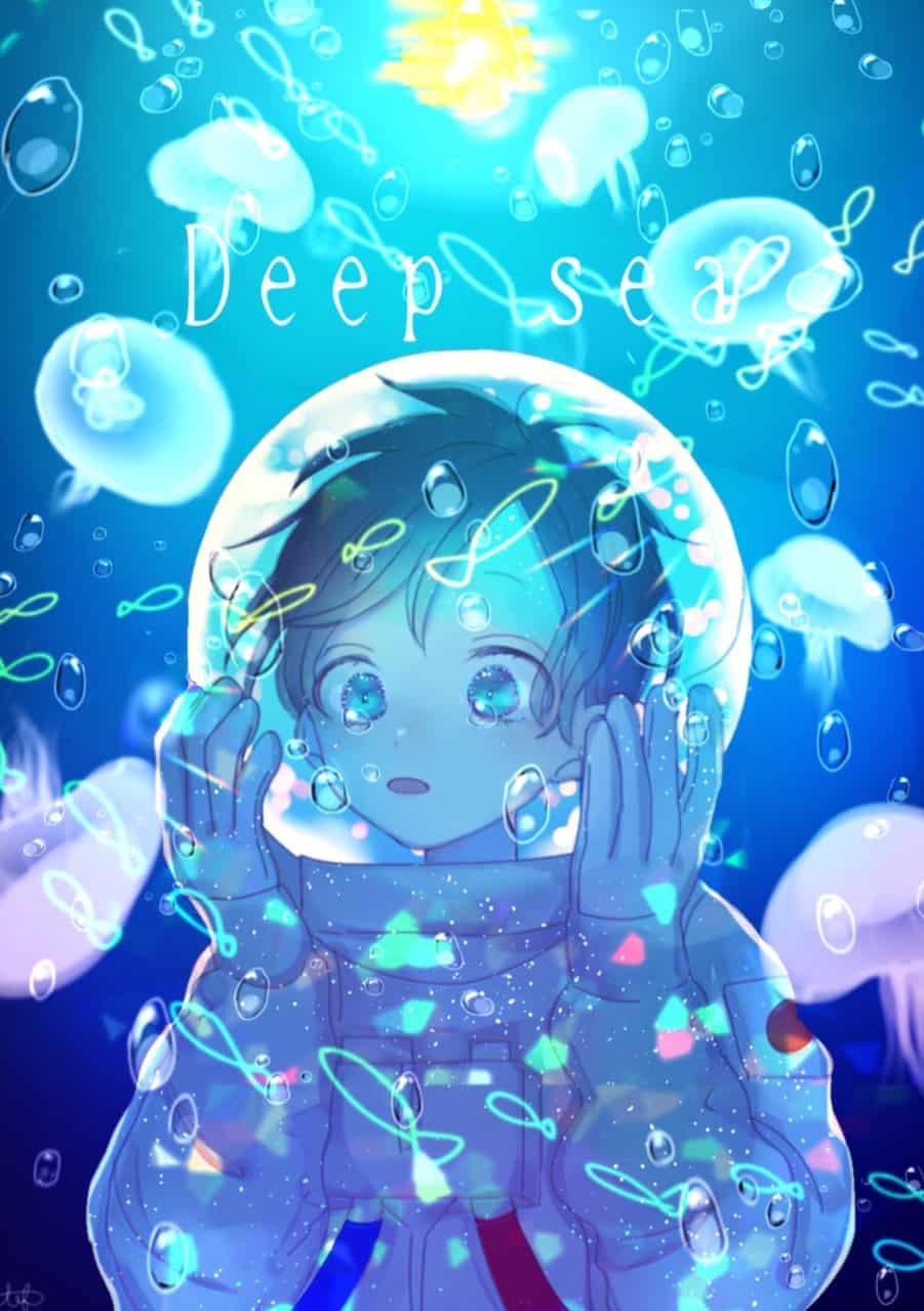 宇宙 Illust of ch April.2020Contest:Color boy blue water sad space sea