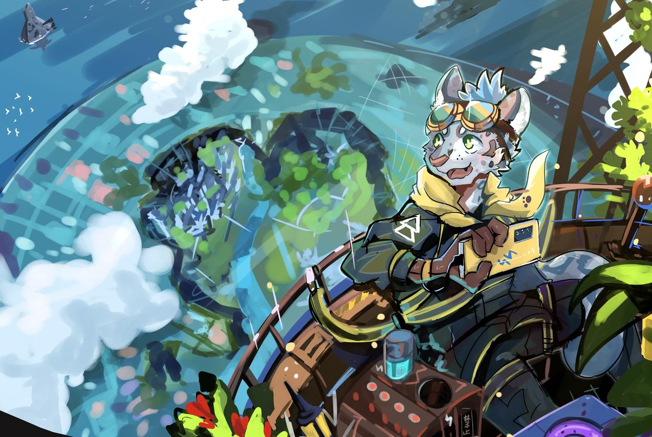 世界 Illust of 肯尼吉 fantasy ART_street_Illustration_Book_Contest background sea clouds furry sky 獸人 未來