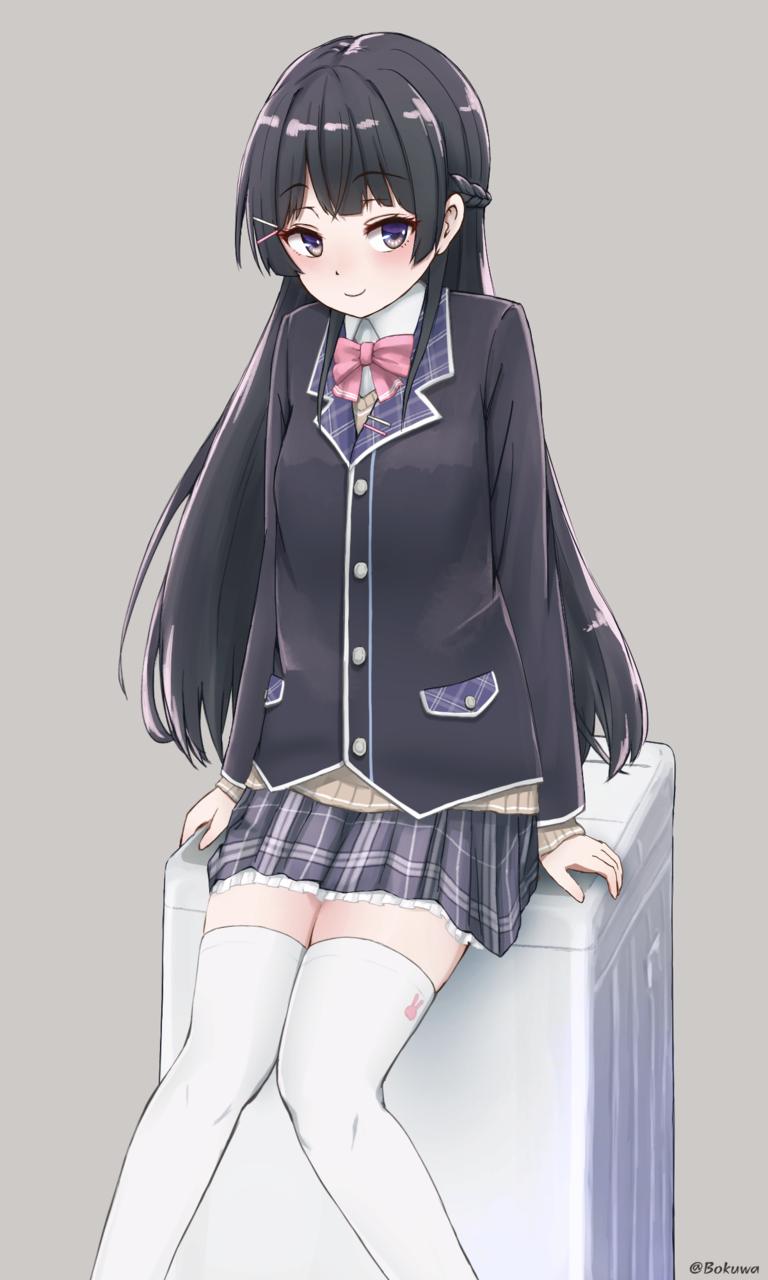 月ノ美兎/Mito tsukino Illust of bokuwa medibangpaint illustration MitoTsukino girl animegirl anime 学校 virtual_YouTuber kawaii cute