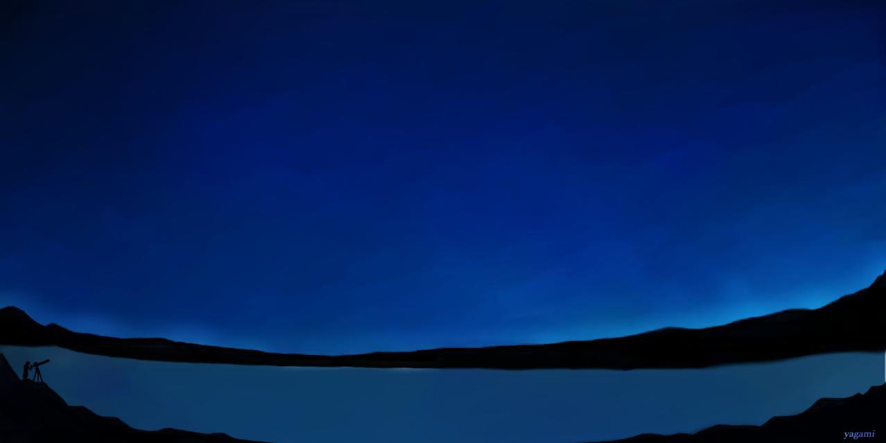 星空 Illust of 八神 奏 Post_Multiple_Images_Contest starry_sky blue gothic background original sky star night