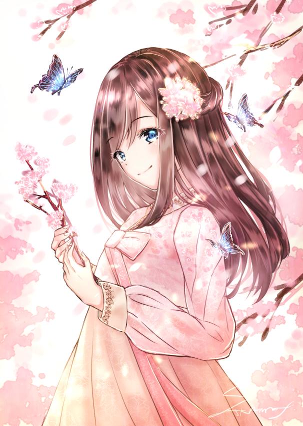 花と蝶-櫻花