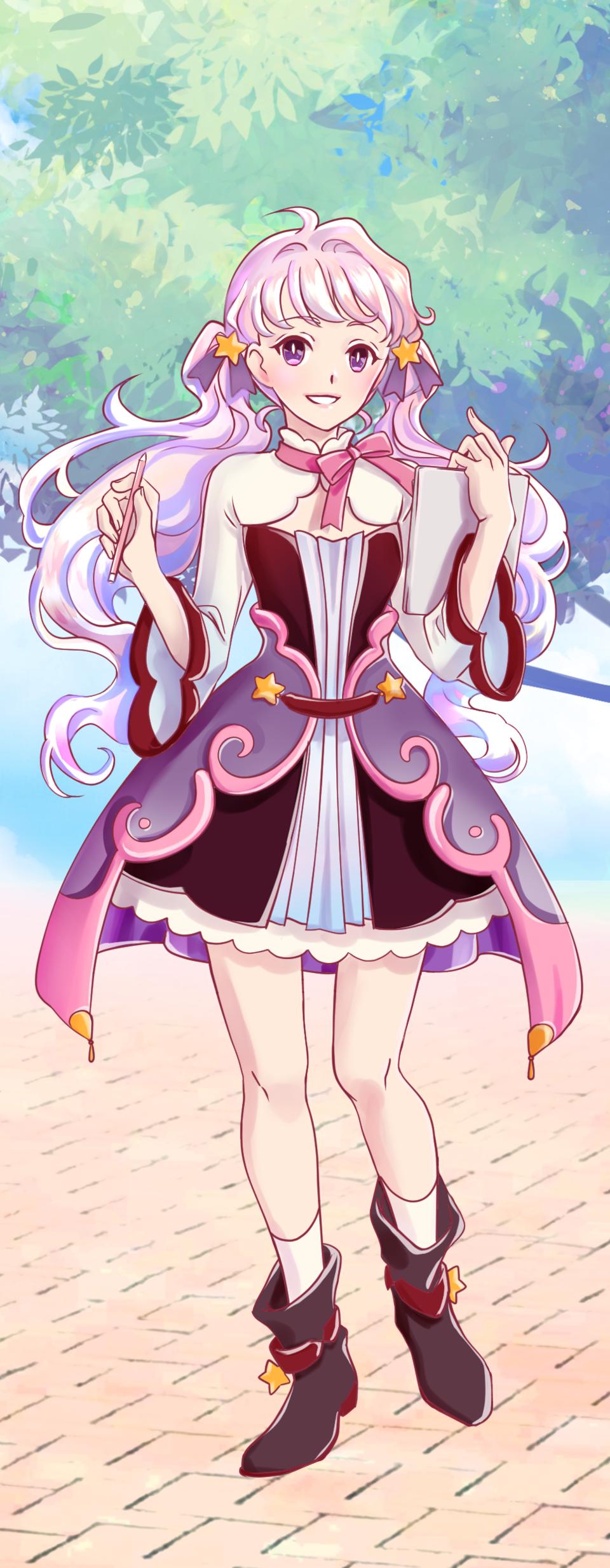 Pink girl Illust of ka.tjan PASTEL_SKETCH2020 oc girl mangagirl medibang pink characterdesign kawaii