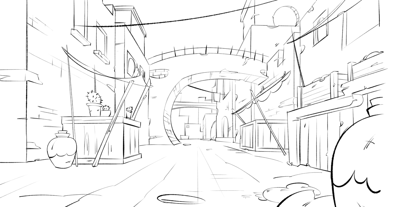 Background in 1 point perspective!! Illust of Akio doodle drawing medibangpaint anime illustration animation tutorial
