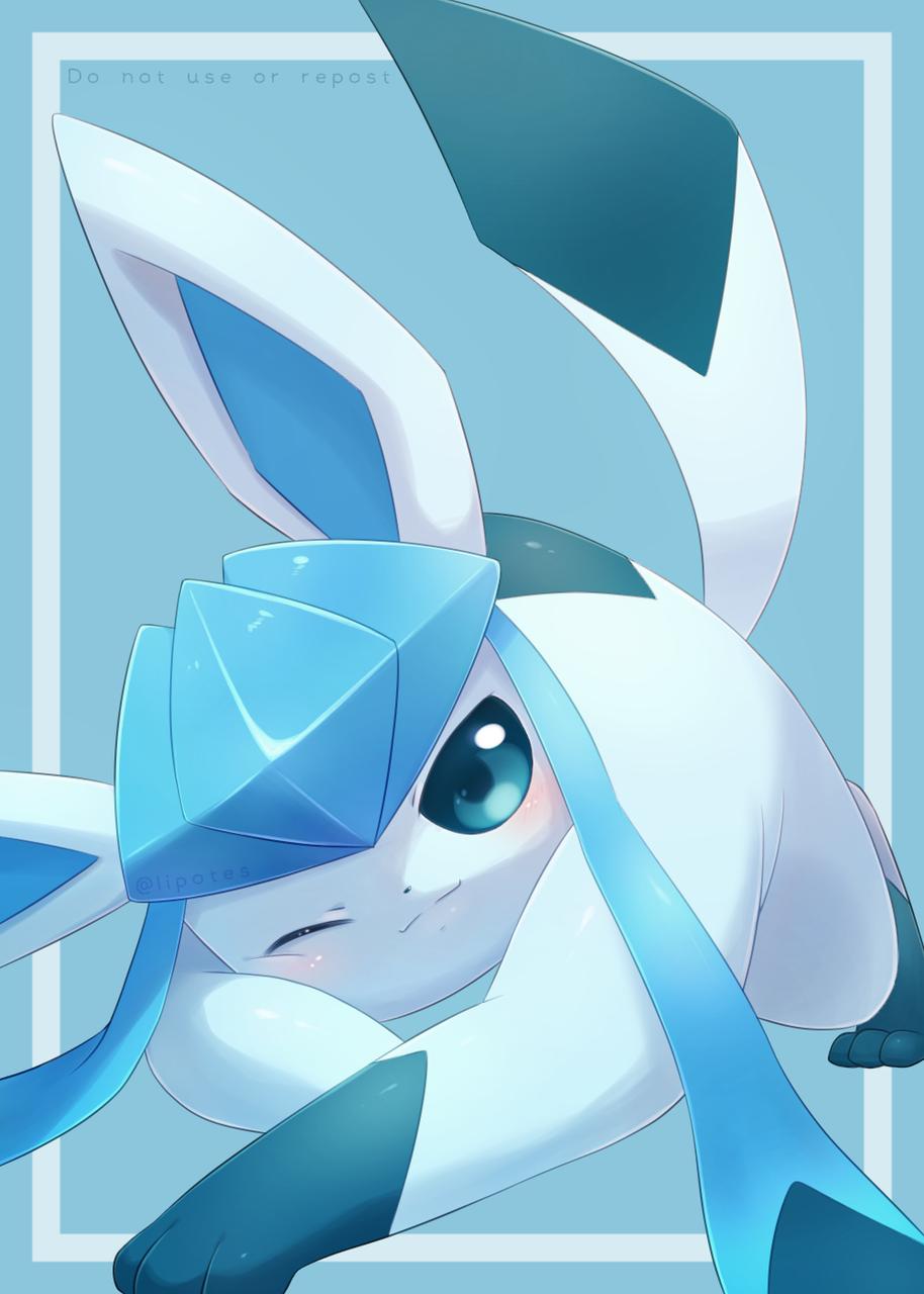 グレイシア/Glaceon Illust of shin pokemon ブイズ fanart グレイシア