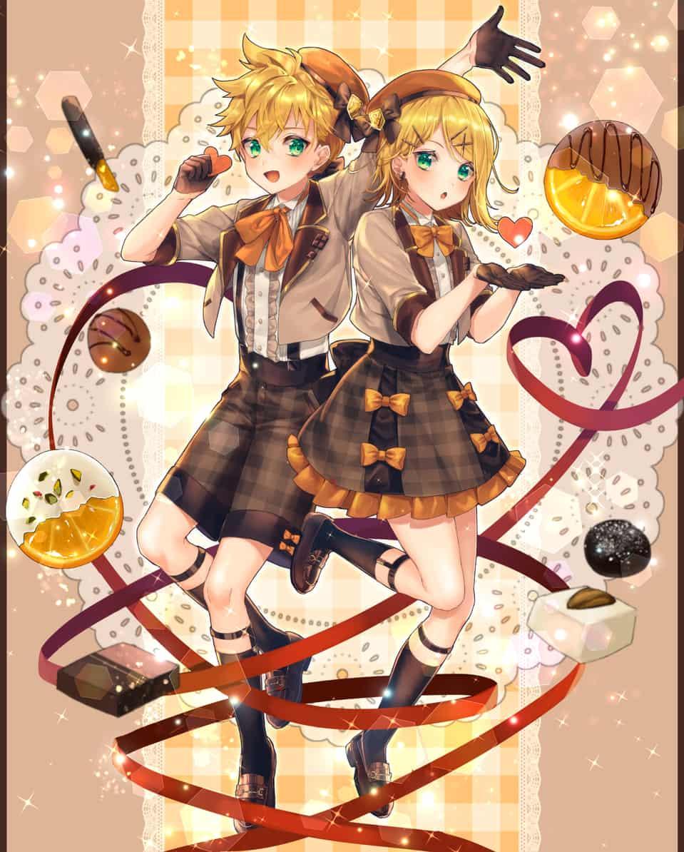バレンタイン Illust of しのたろう KagamineLen Kagamine_Rin Valentine VOCALOID