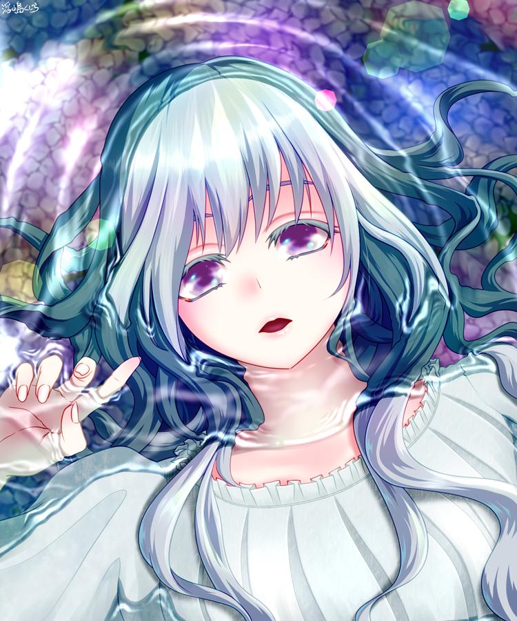 漂う Illust of 浮嶋くじら hydrangea girl water
