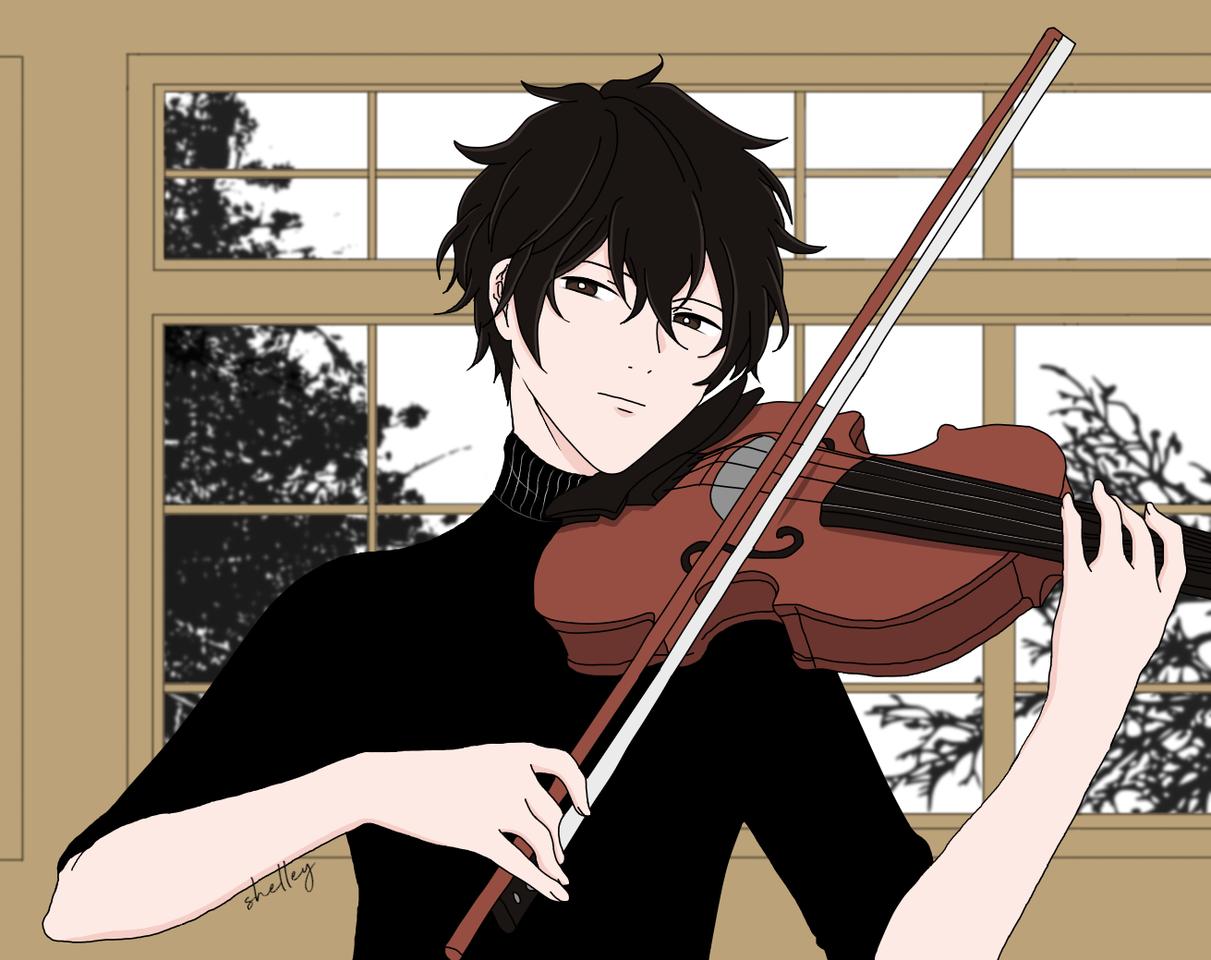 Ugetsu Illust of phantomstring boy fanart Ugetsu Given violin anime UgetsuMurata MyArt