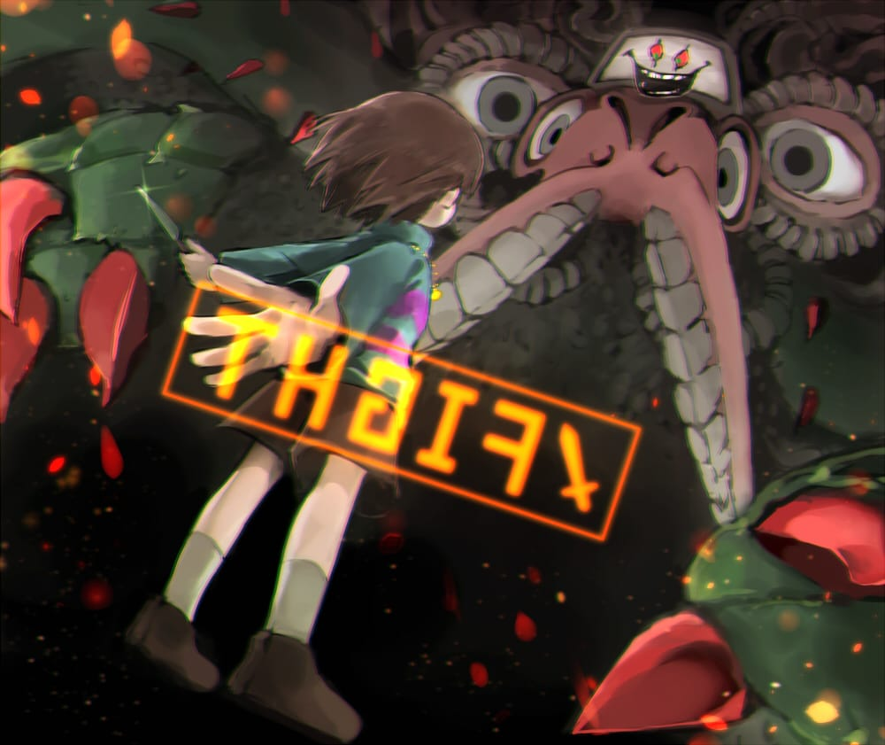 Your Best Nightmare Illust of 篠谷すみっこ Frisk fanfic Flowey undertale