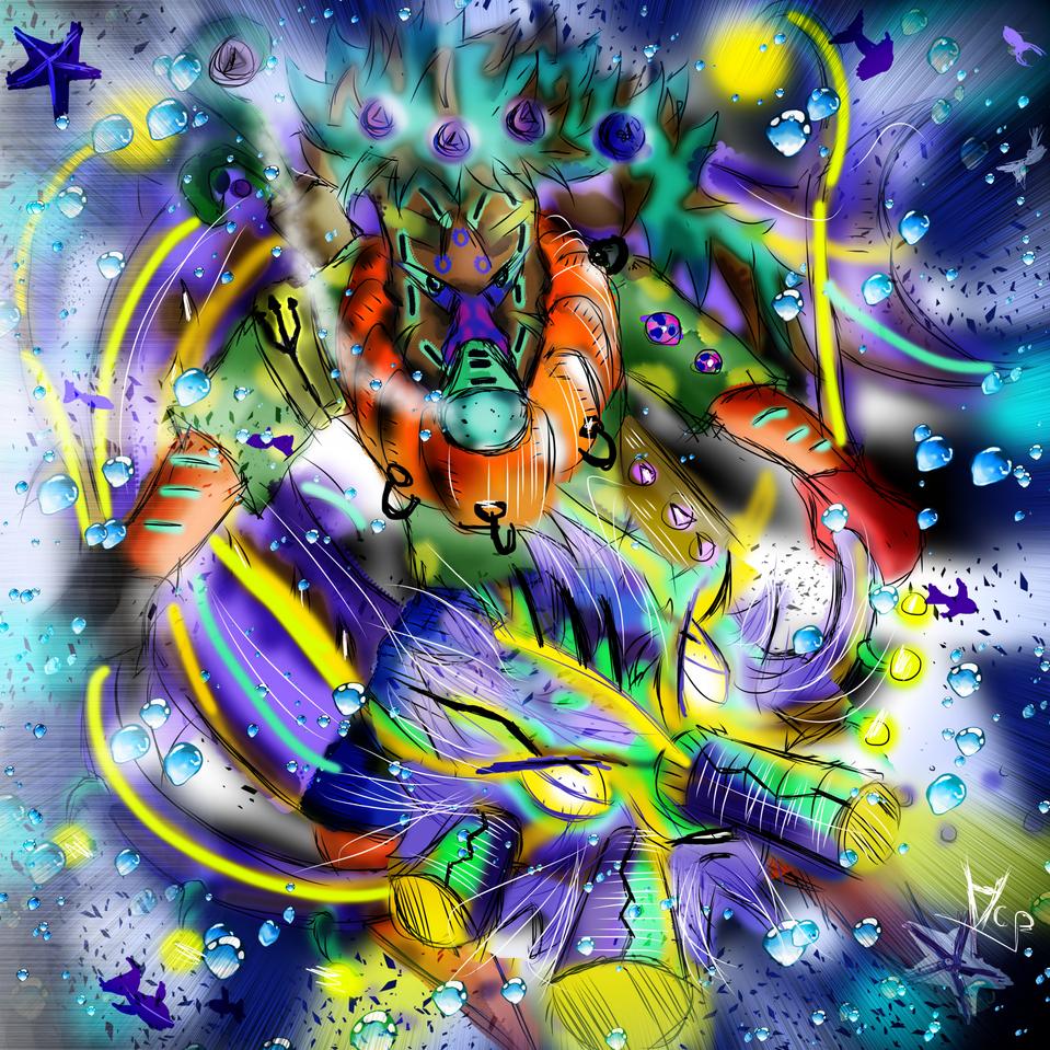Aqua Chamán Illust of AcP March2021_Creature