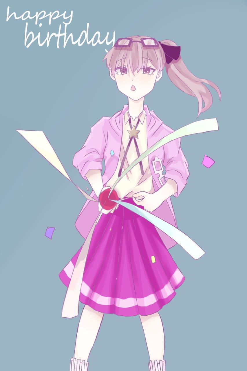 りあ、はぴば! Illust of おみそ#田舎同盟 illustration girl birthday pink CLIPSTUDIOPAINT えみるりあ kawaii