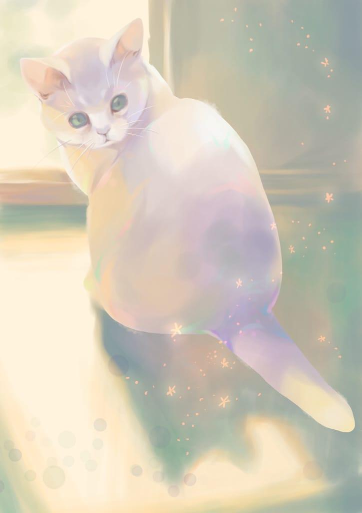 ひだまりの妖精 Illust of 砂虫隼 生き物 animal キラキラ original cat medibangpaint