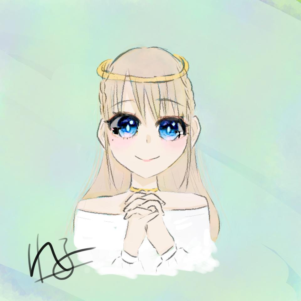 天使ぃ Illust of 桜木 れる@低浮上 medibangpaint angel girl