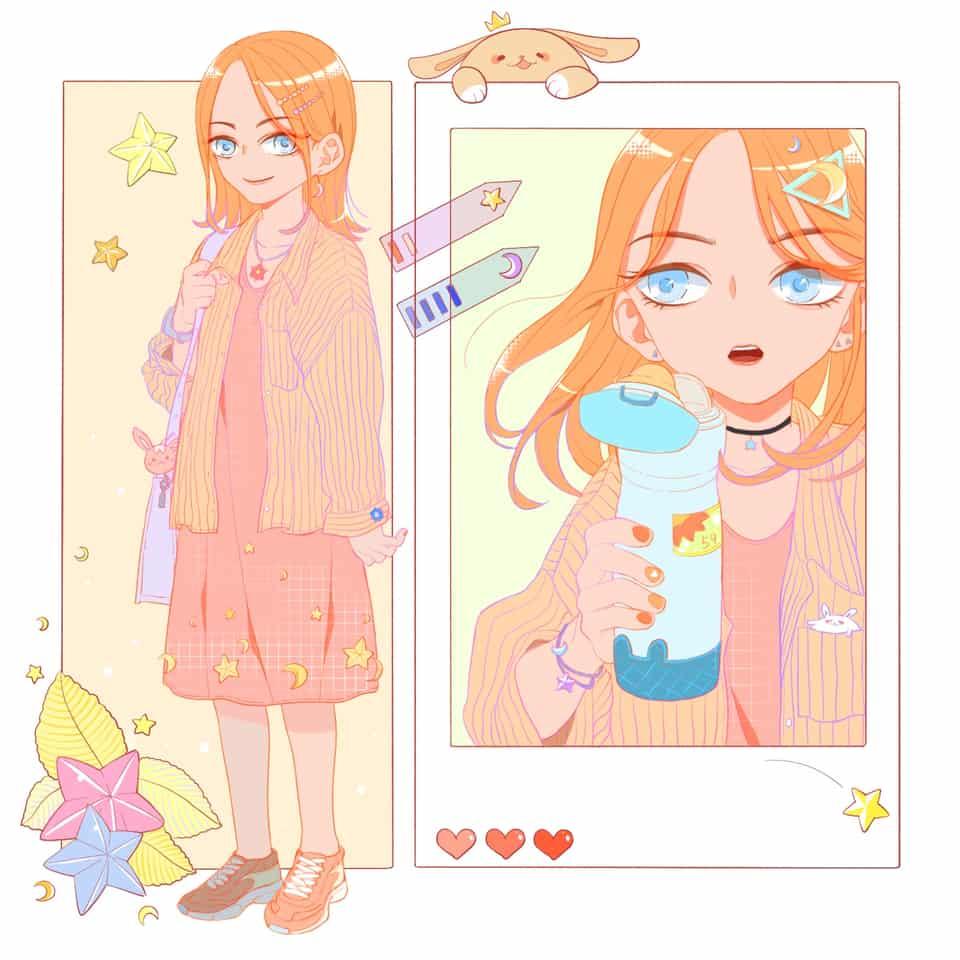 练习 Illust of 君59 girl practice