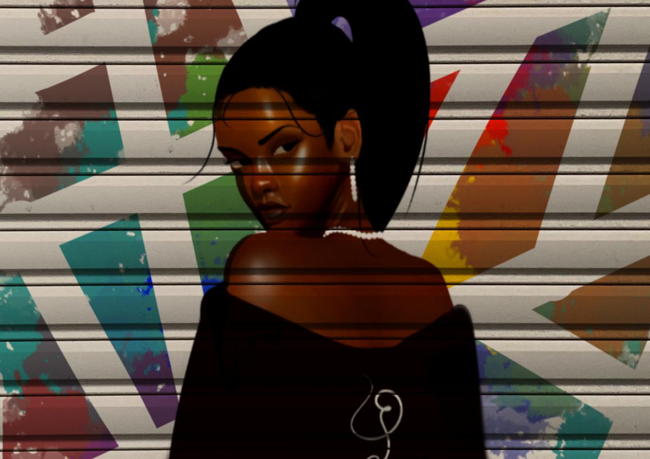 Rihanna Illust of Salome Jahad June2020_Contest:Street_Art medibangpaint Rihanna realistic