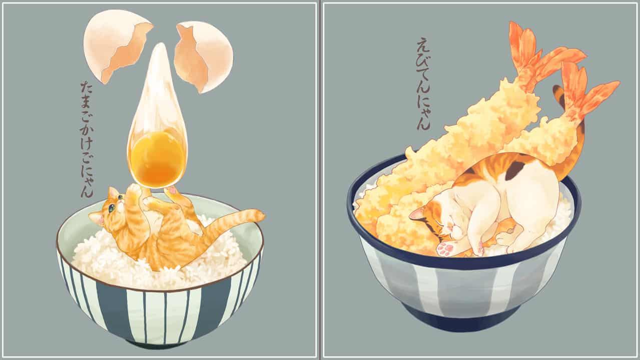 ねこまんま詰め合わせ Illust of 砂虫隼 fantasy Post_Multiple_Images_Contest 生き物 animal oc cat food original