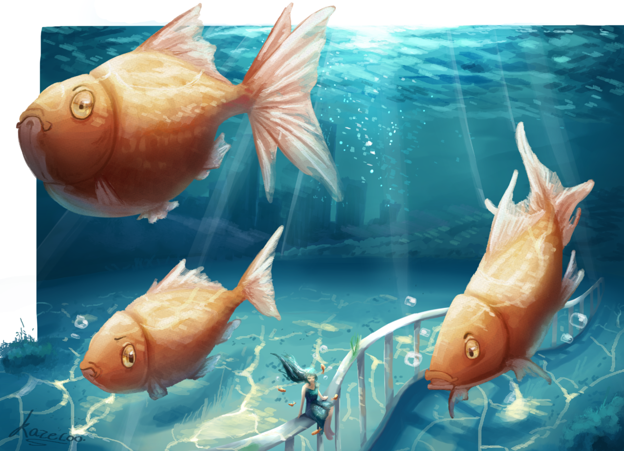 #1: Goldfish Illust of Kazecoo ARTstreet_Ranking artist animal Artwork CLIPSTUDIOPAINT