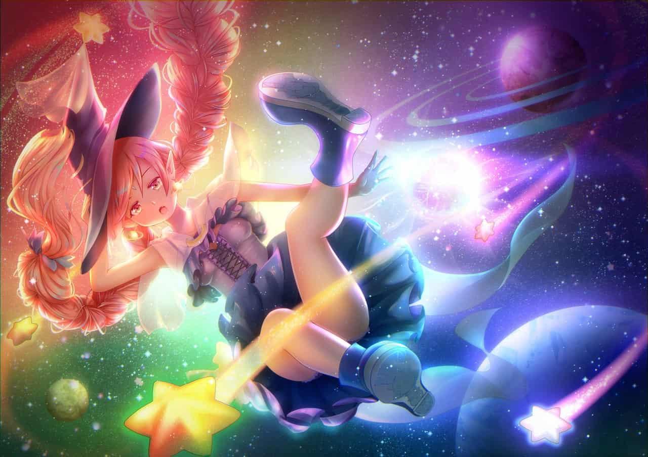 在宇宙穿梭的魔法精靈 Illust of Chandra 星星 魔法少女 space