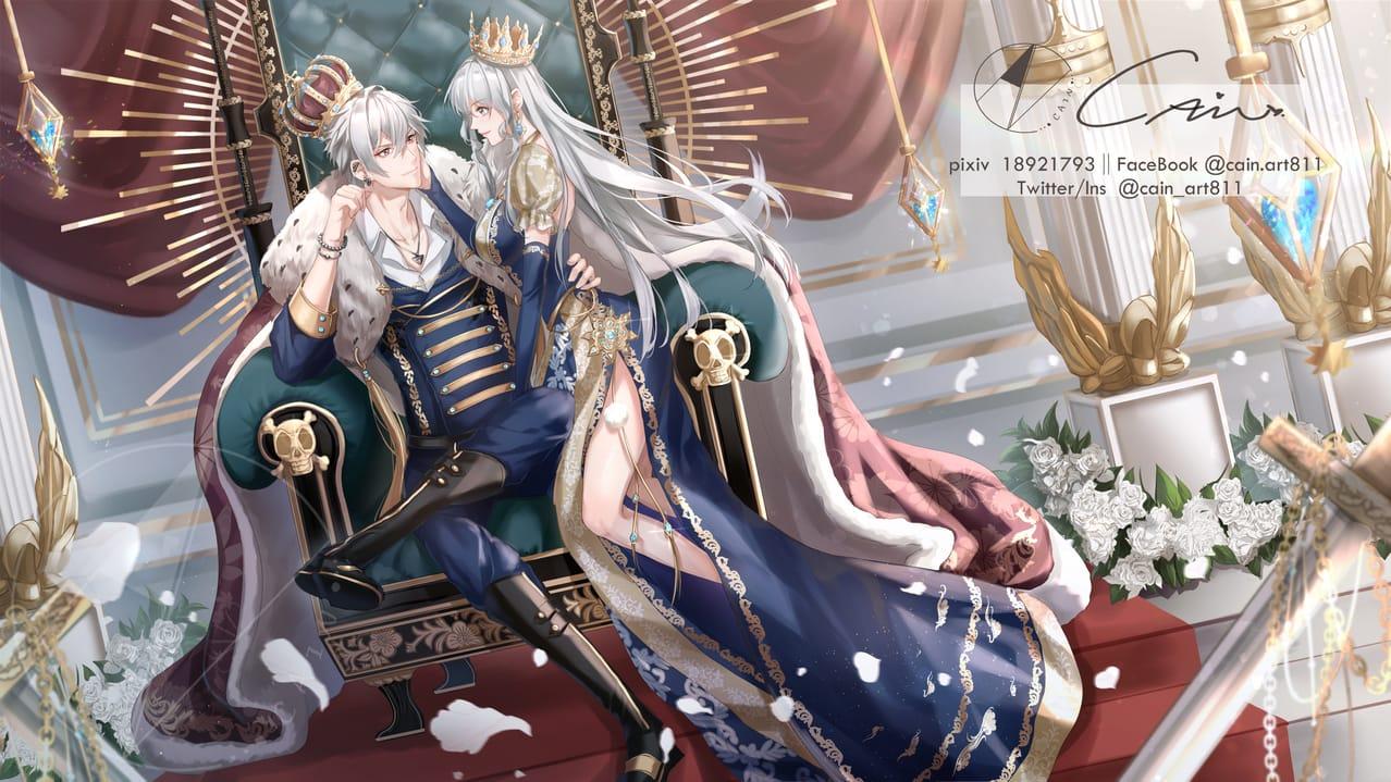 皇 Illust of 華茵Cain 依頼絵 girl SamatokiAohitsugi boy 碧棺合歓