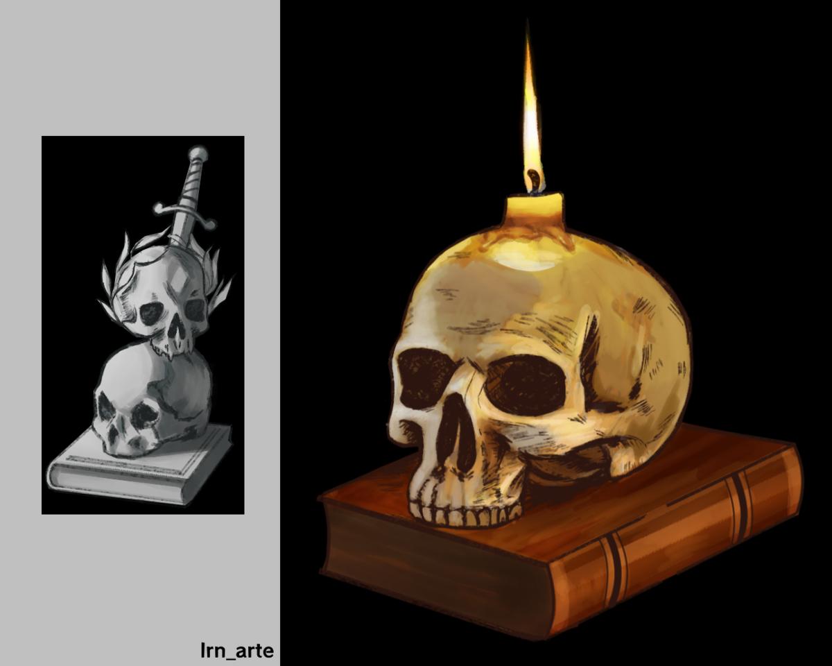 skulls Illust of lrnart97 skull drawing desenho medibangpaint