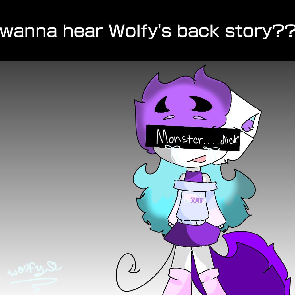 want to hear wolfy's backstory?? Illust of DeKu._.W0lfy_the_wolf._.382YT💜 medibangpaint backstory wolfy💜 furry