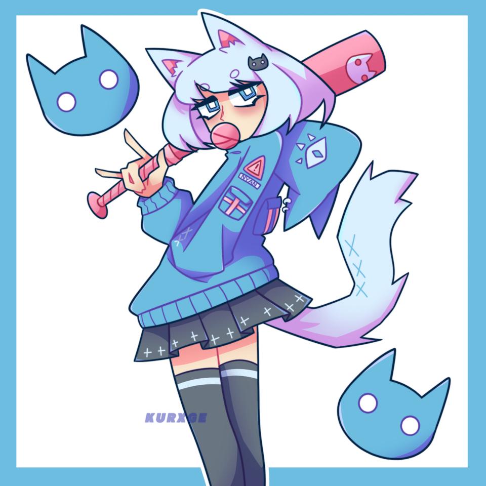 Matabeku DTIYS Illust of kurxge anime dtiys girl nekogirl manga cat_ears drawthisinyourstyle catgirl medibang aesthetic