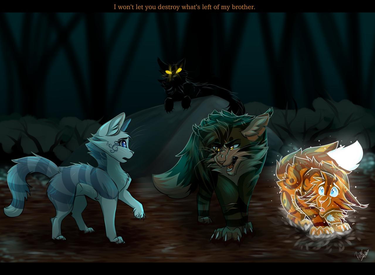 Tigerheart and Ivypaw WC Illust of rivstars medibangpaint cat Tigerheart paw warriorcats art Flametail Ivy Darkforest