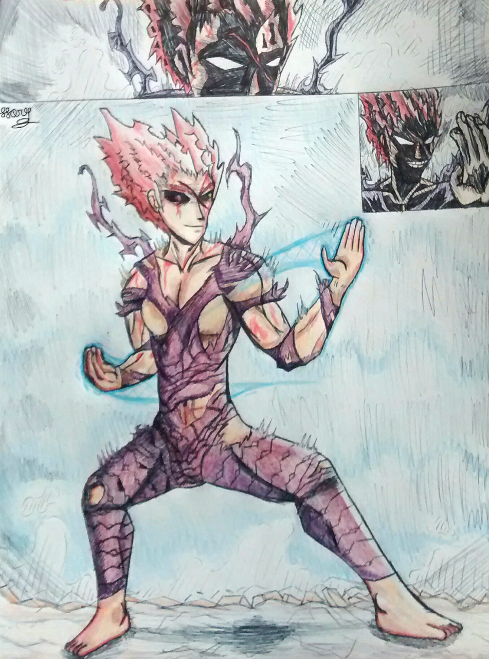 WIP finished, creo que quedo bien(? Illust of Hory medibangpaint monster hory drawing Punch garou Man One opm Human