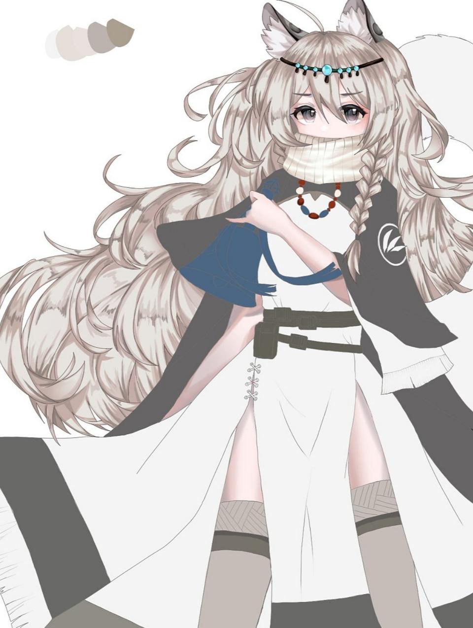 初雪 Illust of Minako medibangpaint Arknights iPad_raffle 初雪