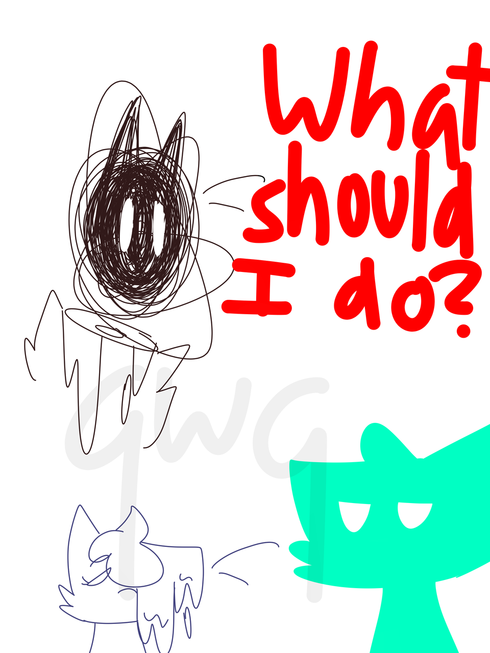 what should I do? (and doodles) Illust of Thunderstar_qwq medibangpaint