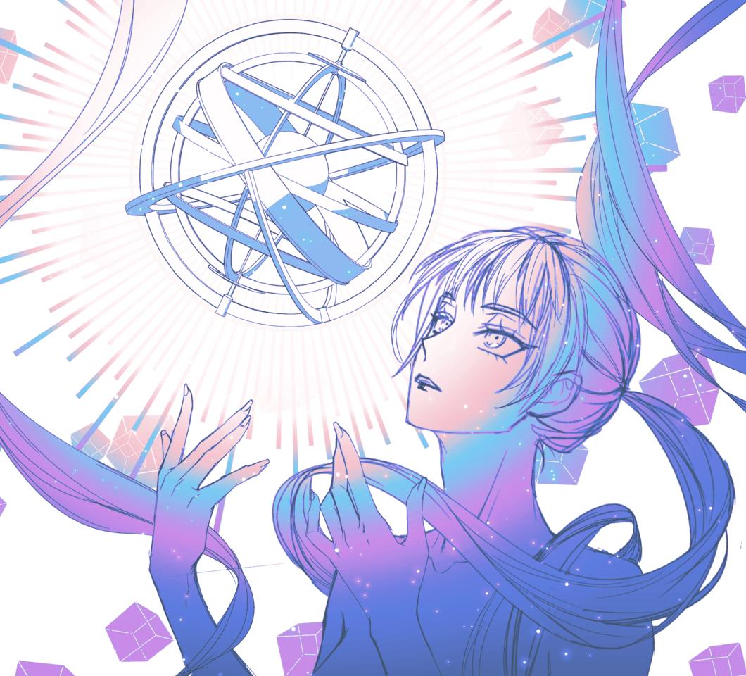 star Illust of 십삼 doodle girl star woman