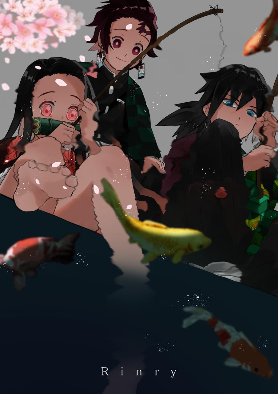 釣り Illust of Rinry anime KimetsunoYaiba