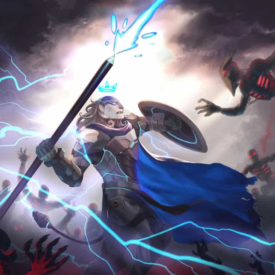 leon the future defender Illust of sandkuwng HuionDesign fight illustration character