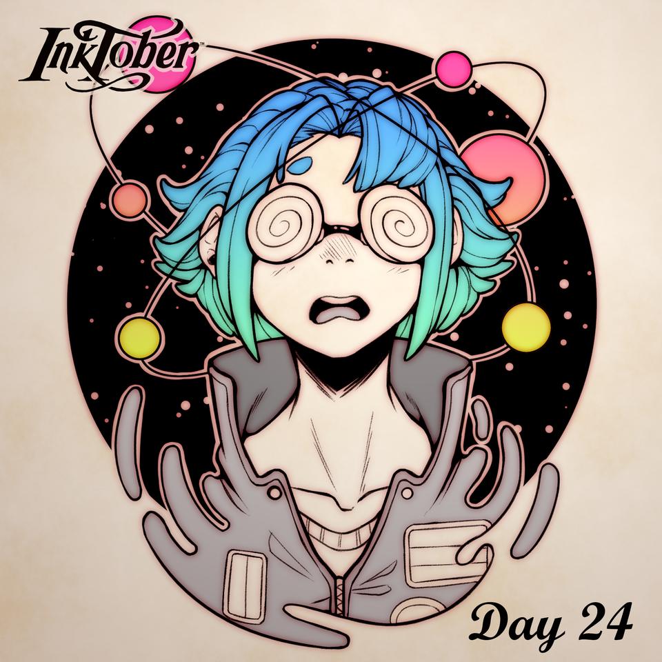 Inktober DAY 24: Dizzy