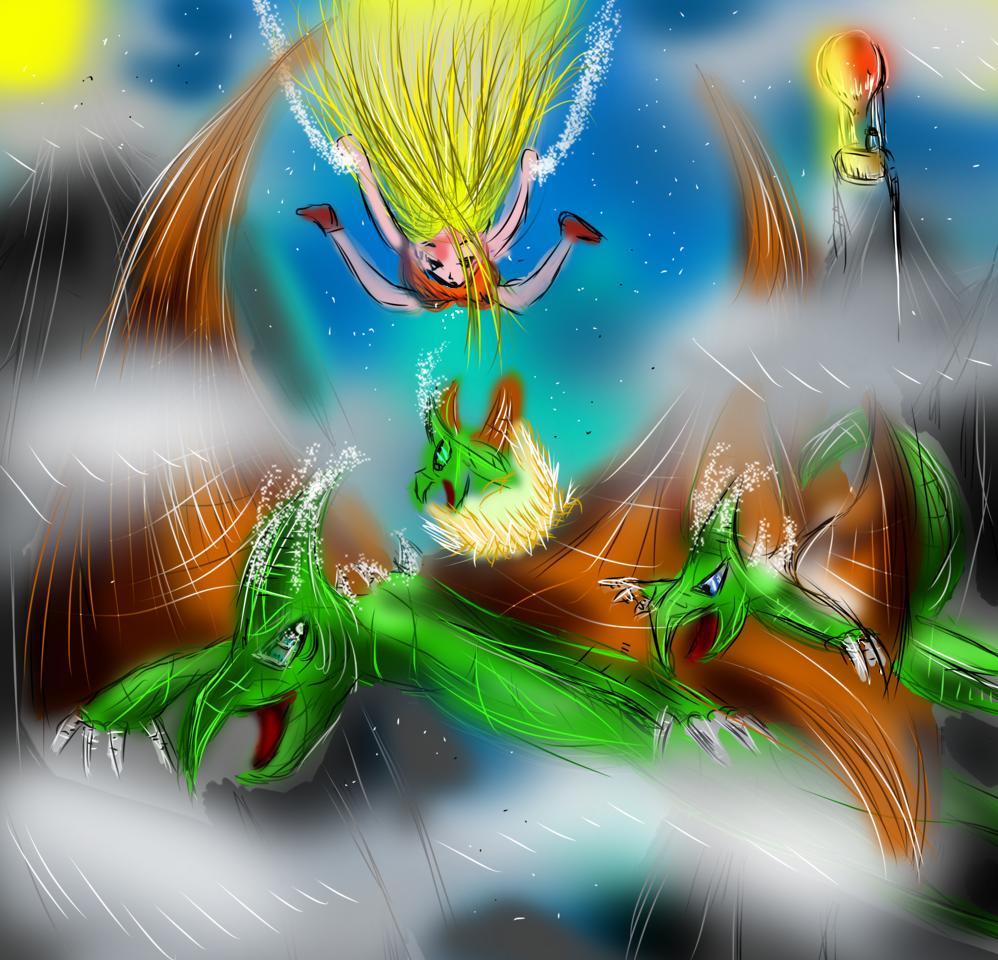 relax flying Illust of AcP February2021_Fantasy