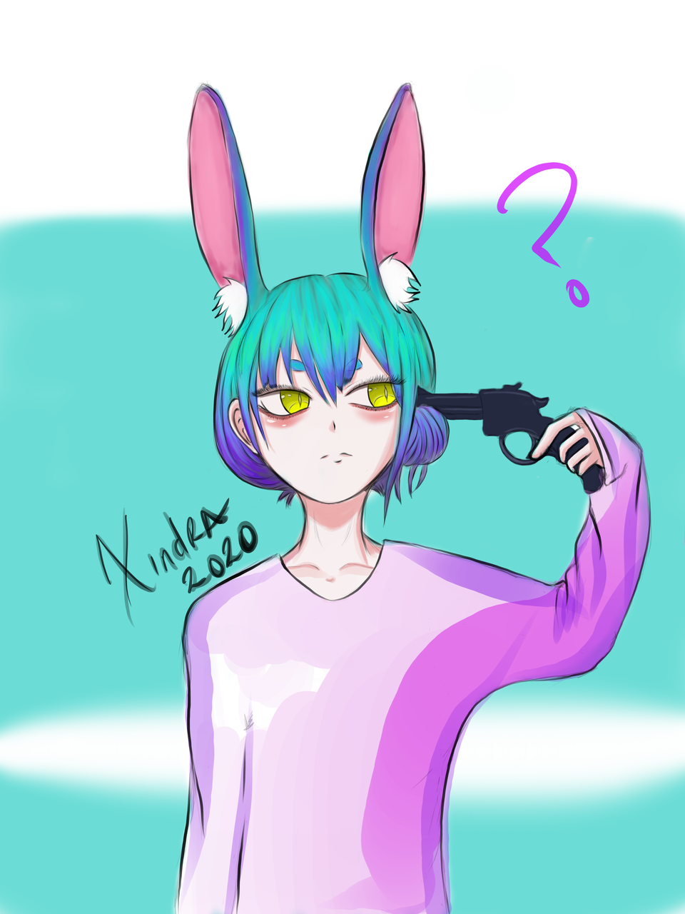 Bunny persona Illust of XinSan medibangpaint bunnygirl