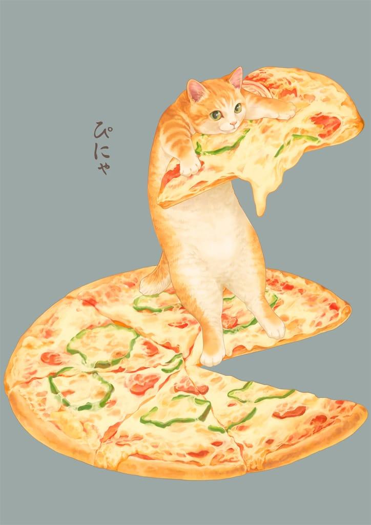ぴにゃ Illust of 砂虫隼 fantasy food 生き物 animal Kitty! cat