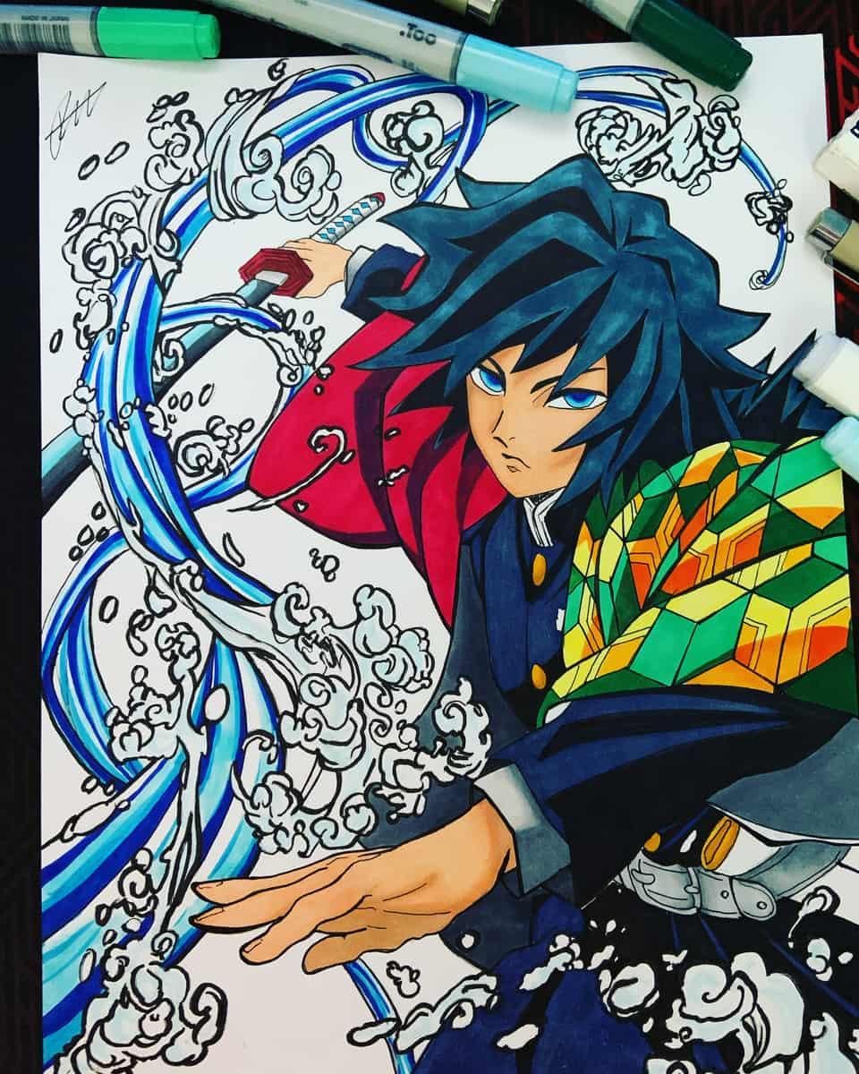 Giyuu Tomioka Illust of richard_sketch DemonSlayerFanartContest fanart KimetsunoYaiba