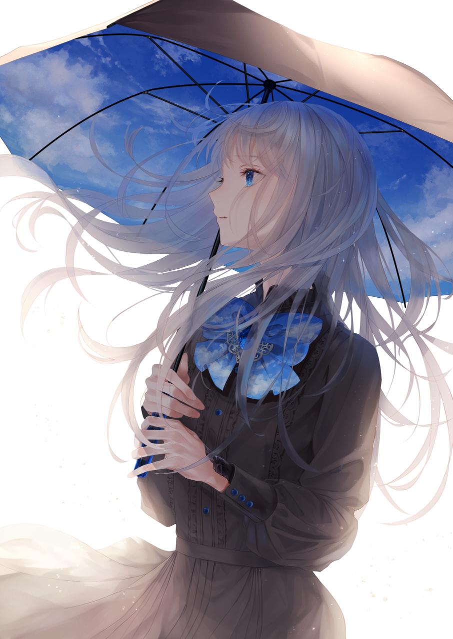 空が見たかった Illust of 稔也 umbrella girl Emo original