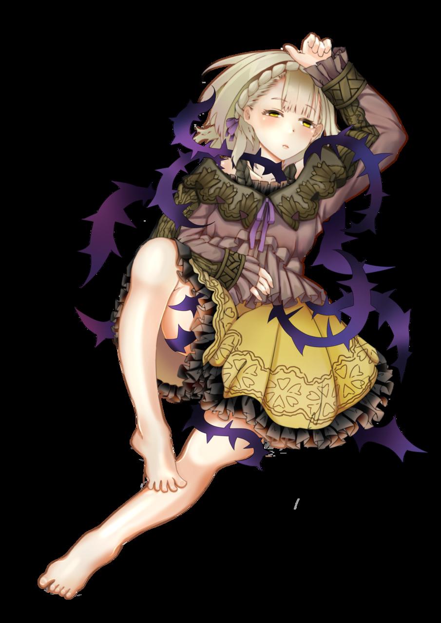 Sleeping Beauty SINoALICE No BG Illust of nian fuwa sci-fi fantasy princess SINoALICE fanart Sleeping Beauty beautiful ibarahime sleepy いばら姫
